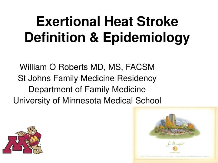 exertional heat stroke definition epidemiology n.