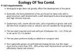 ecology of tea contd1