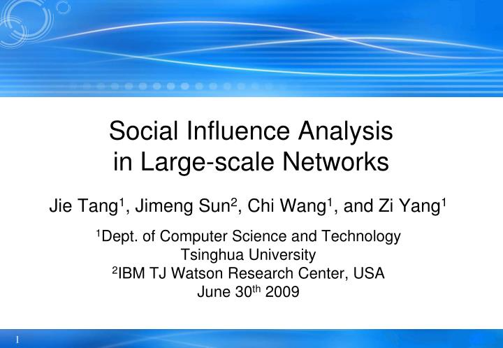 social influence analysis in large scale networks n.