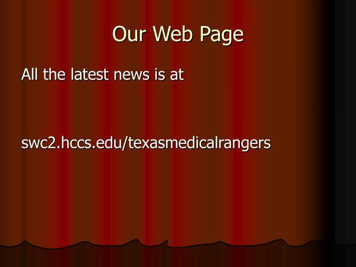 Our Web Page