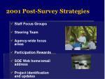 2001 post survey strategies