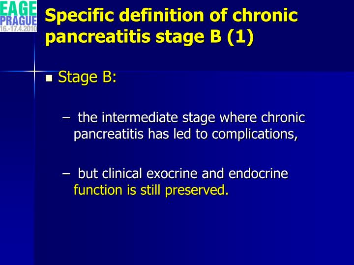 Specific definition of chronic pancreatitis stage B (1)