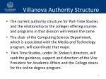 villanova authority structure