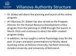 villanova authority structure1