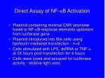 direct assay of nf b activation