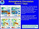 atmospheric circulation recent 7 days