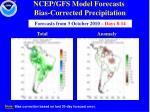 ncep gfs model forecasts bias corrected precipitation1