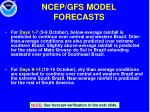 ncep gfs model forecasts