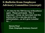 e bulletin from employee advisory committee excerpt
