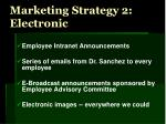 marketing strategy 2 electronic