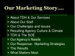 our marketing story