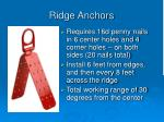 ridge anchors