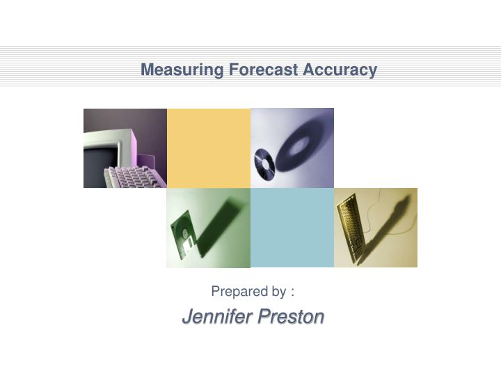 measuring forecast accuracy n.
