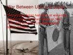 war between usa and japan