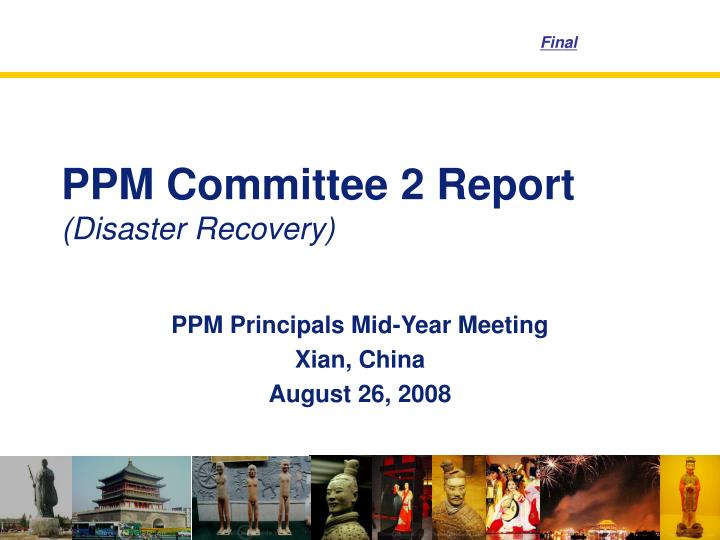 ppm committee 2 report disaster recovery n.