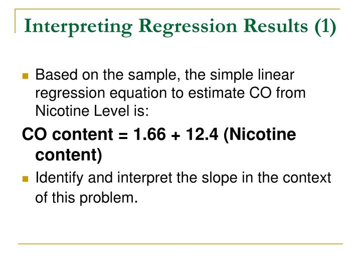 Interpreting Regression Results (1)