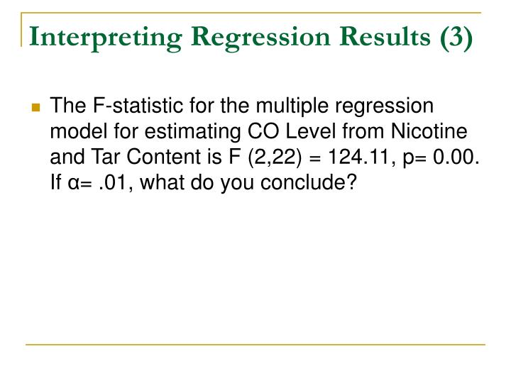 Interpreting Regression Results (3)