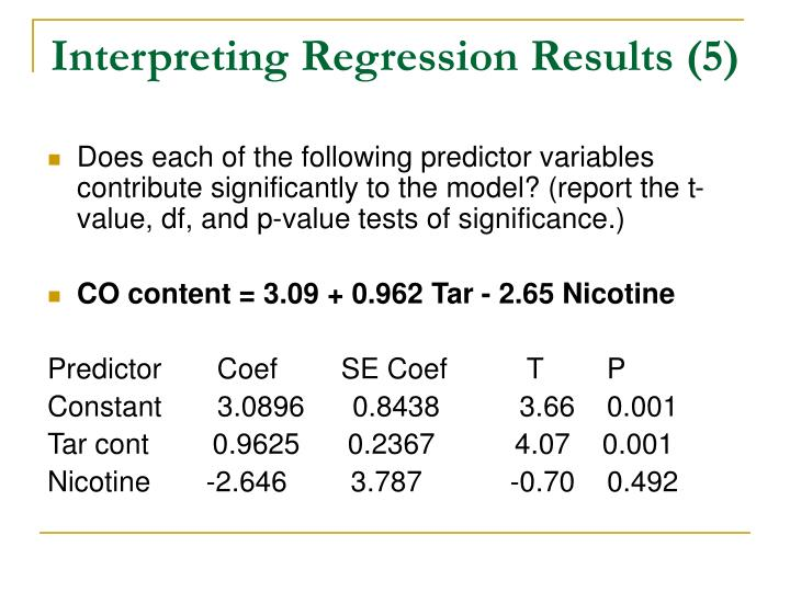 Interpreting Regression Results (5)
