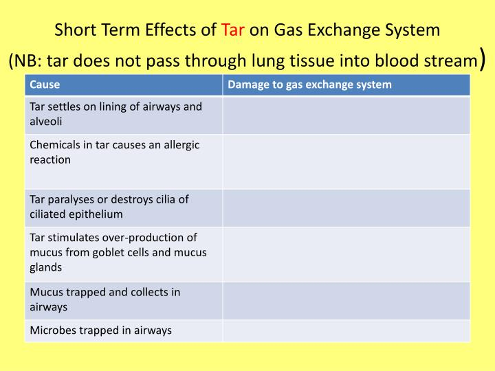 Short Term Effects of