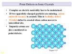 point defects in ionic crystals