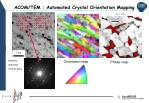 acom tem automated crystal orientation mapping