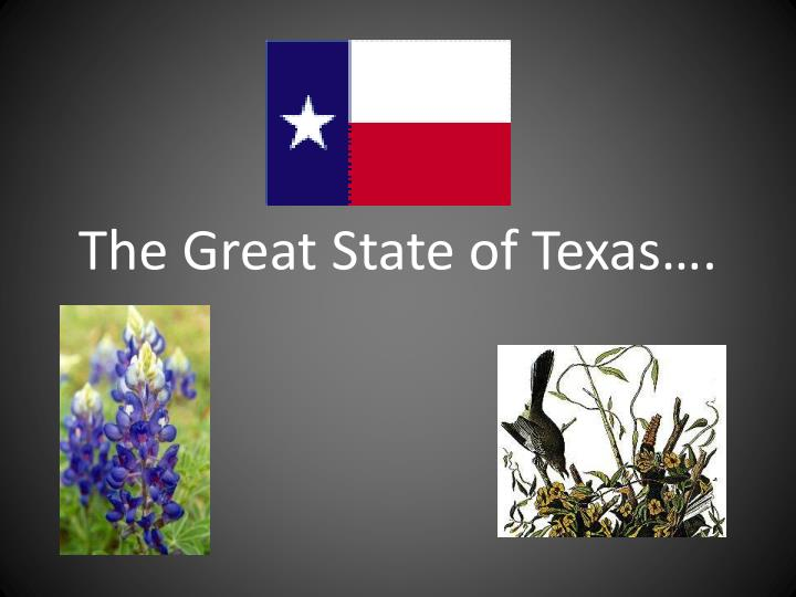 the great state of texas n.