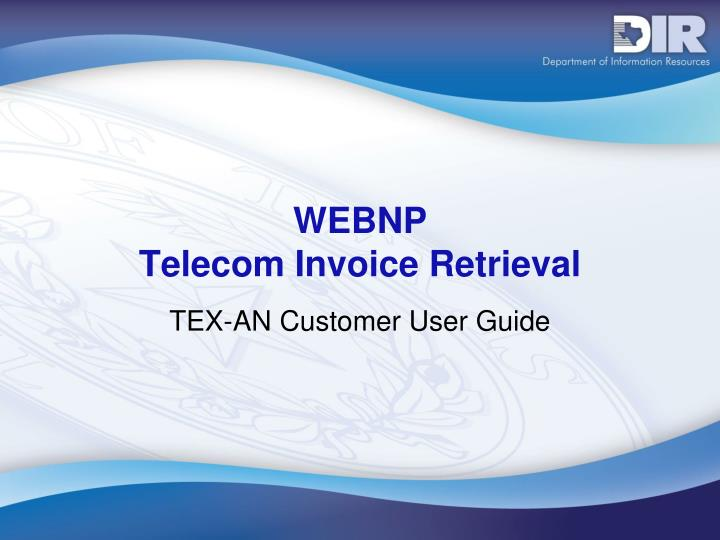 webnp telecom invoice retrieval n.