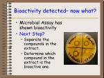 bioactivity detected now what