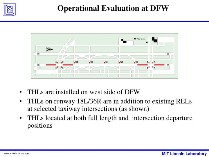 Operational Evaluation at DFW