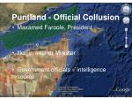 puntland official collusion