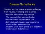 disease surveillance1