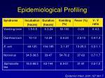 epidemiological profiling