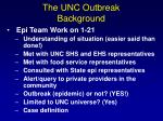 the unc outbreak background1