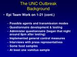 the unc outbreak background2