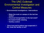 the unc outbreak environmental investigation and control measures2