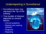 underreporting in surveillance