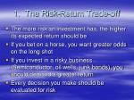 1 the risk return trade off