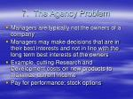 7 the agency problem
