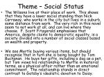 theme social status