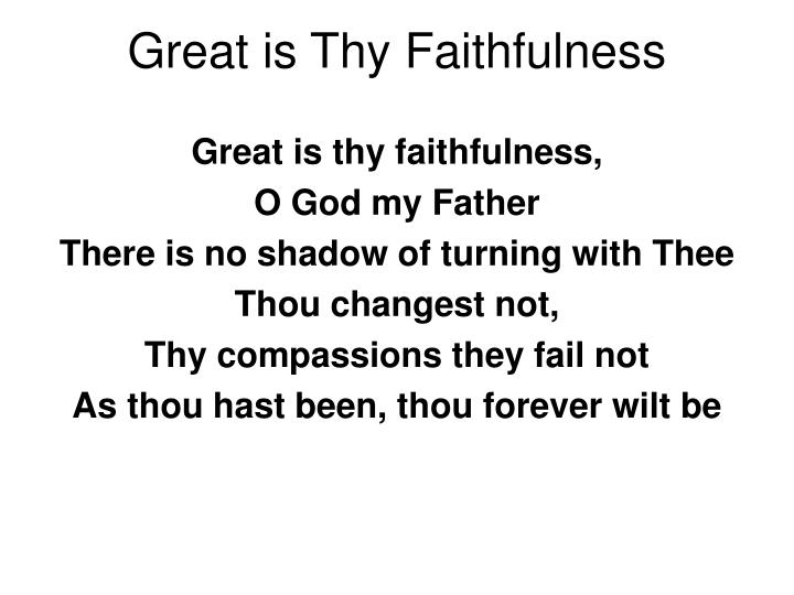 great is thy faithfulness n.
