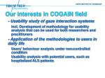our interests in cogain field