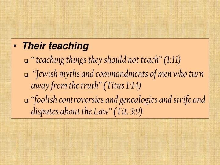 Their teaching
