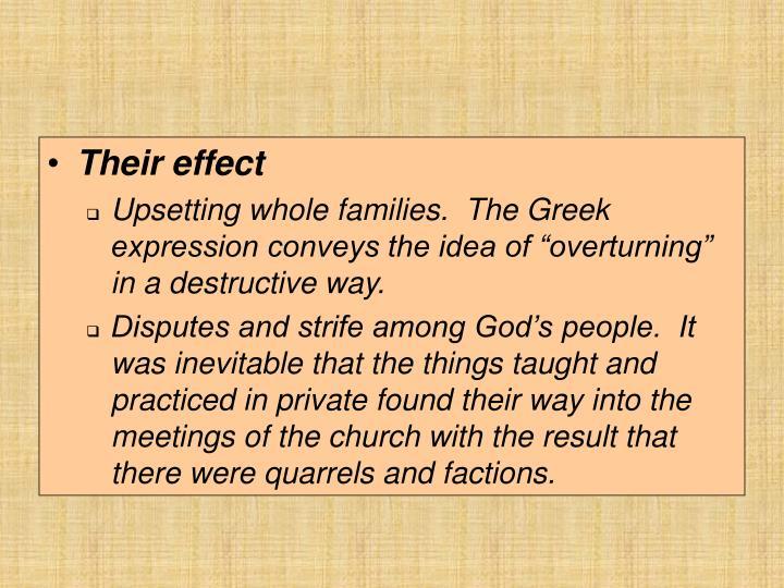 Their effect