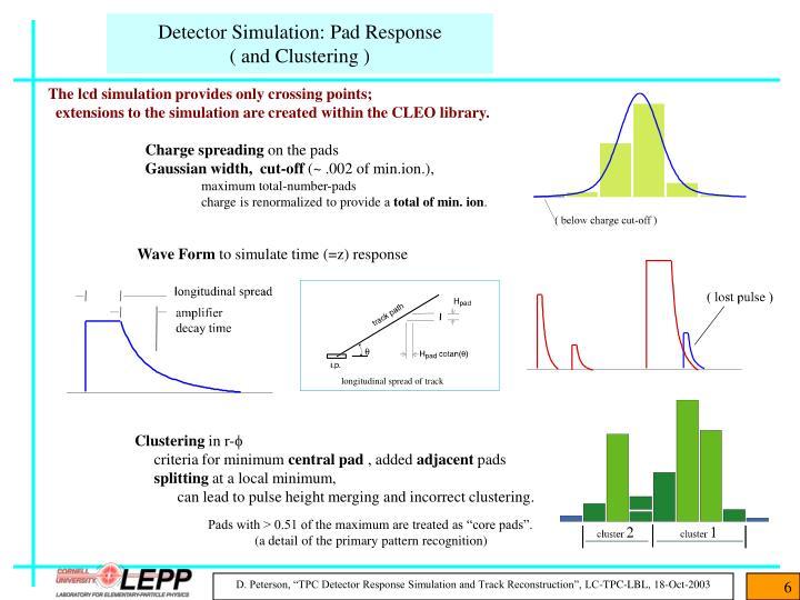 Detector Simulation: Pad Response