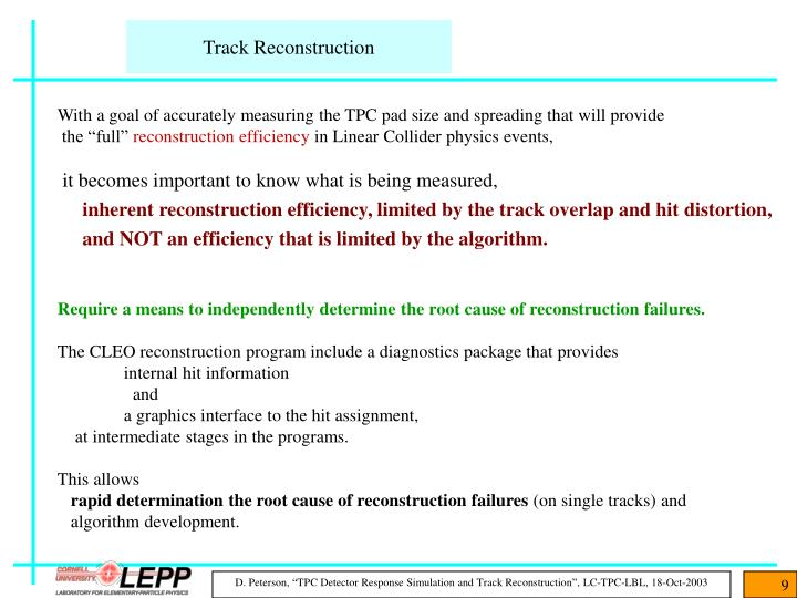 Track Reconstruction