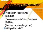 macintosh tex latex front ends