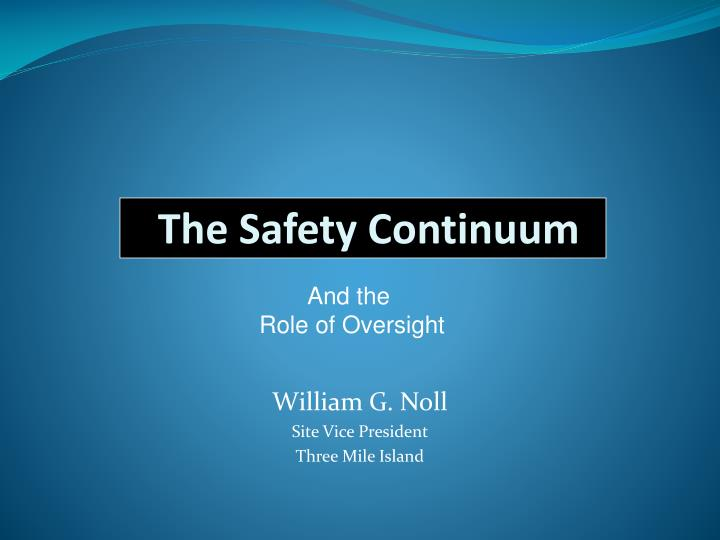 the safety continuum n.