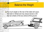 balance the weight