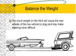 balance the weight1