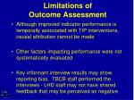 limitations of outcome assessment